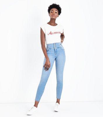 Blue Light Wash High Waist Skinny Yazmin Jeans New Look