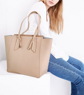 Nude Knot Strap Tote Bag New Look