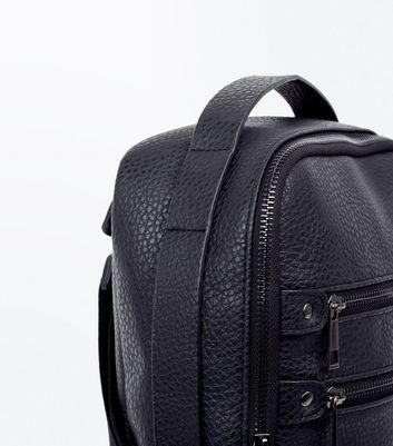 Black Double Zip Front Cross Body Bag New Look