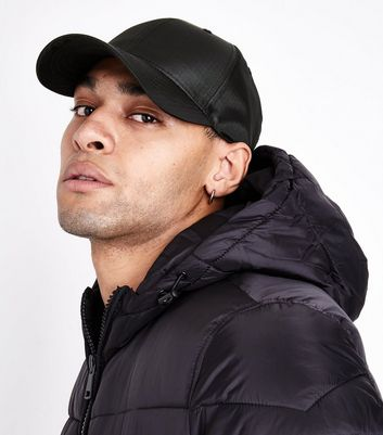 Black Ripstop Cap New Look