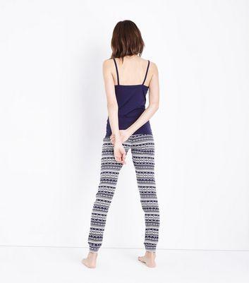 Blue Fairisle Pyjama Set New Look