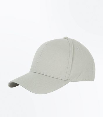 Pale Grey Cotton Cap New Look
