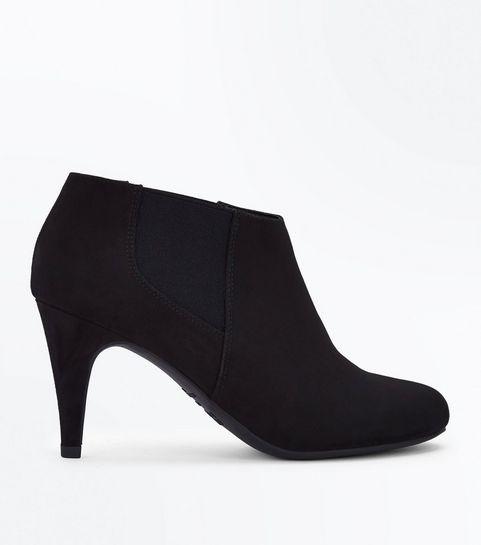 c38c4480fe89 Black Suedette Chelsea Shoe Boots · Black Suedette Chelsea Shoe Boots ...