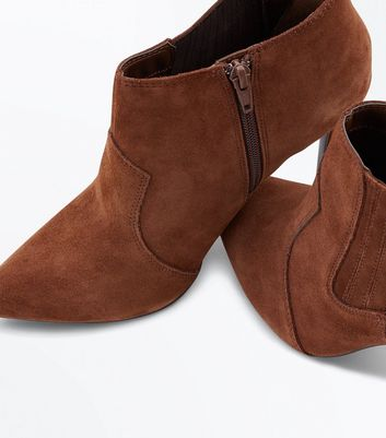 Tan Suede Pointed Western Shoe Boots New Look