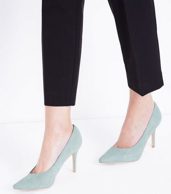 Mint Green Sweetheart Pointed Court Shoes New Look