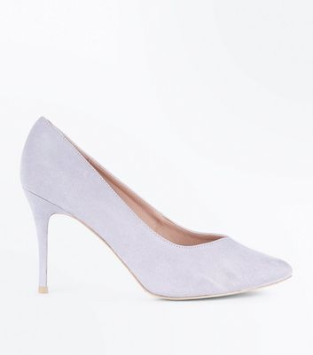Lilac Sweetheart Pointed Court Shoes New Look