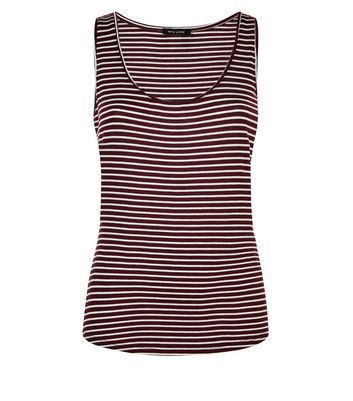 Red Stripe Vest New Look