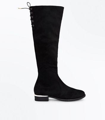 In Gespeicherten Teenager � Speichern Wildleder Overknee Stiefel Schnüren Zum Für Später Optik Entfernen Von Artikeln schwarze 54ARq3jL