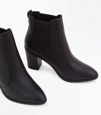 Black Block Heel Chelsea Boots New Look