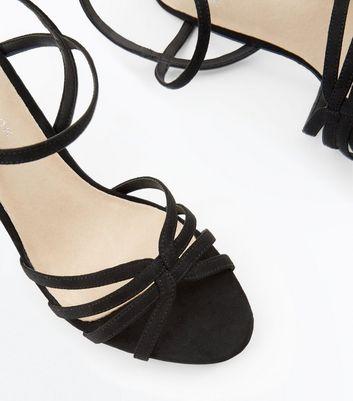 Black Comfort Flex Suedette Strappy Sandals New Look