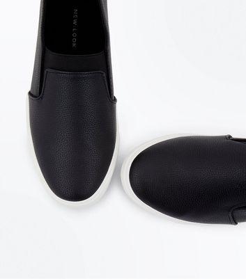 Wide Fit Black Elasticated Front Slip