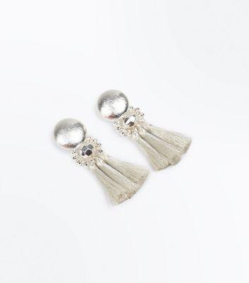 Silver Tassel Drop Earrings New Look
