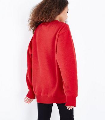 Teens NYC Slogan Longline Sweatshirt New Look