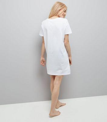 White Bride To Be Longline Pyjama Top New Look