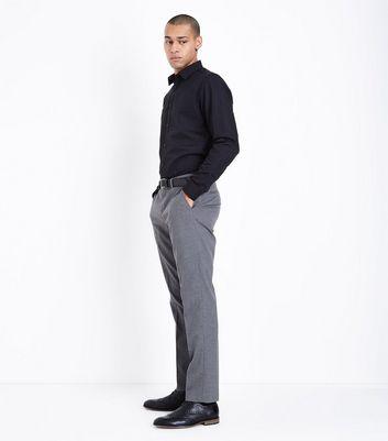 Black Poplin Long Sleeve Shirt New Look