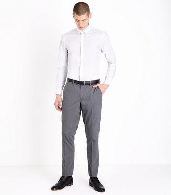 White Poplin Long Sleeve Shirt New Look