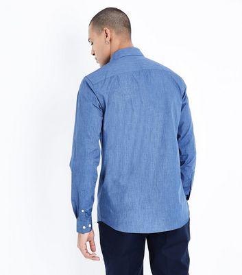 Blue Long Sleeve Shirt New Look