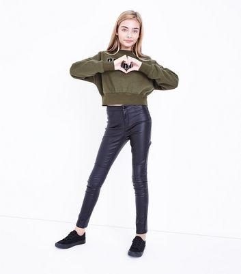 Khaki Detroit Chunky Hem Sweatshirt New Look