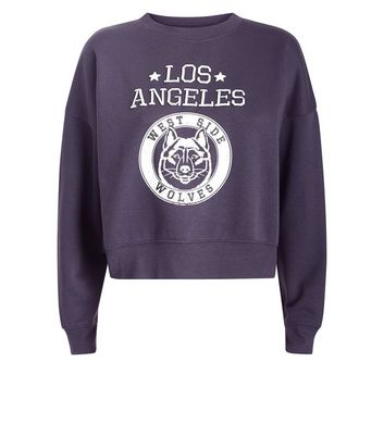 Teens Grey Los Angeles Sweater New Look