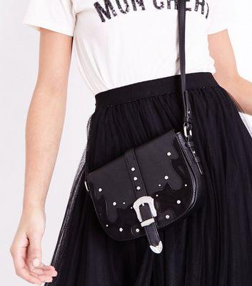 Black Western Belt Front Saddle Bag New Look