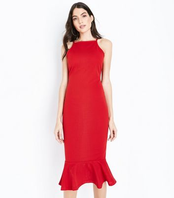 Ax Paris Frill Hem Midi Dress New Look Eastbay Low Price Fee Shipping Sale Cheap Online Amazing Price Online New For Sale OkfYt4