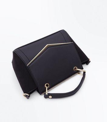 Black Top Grab Handle Mini Cross Body Bag New Look