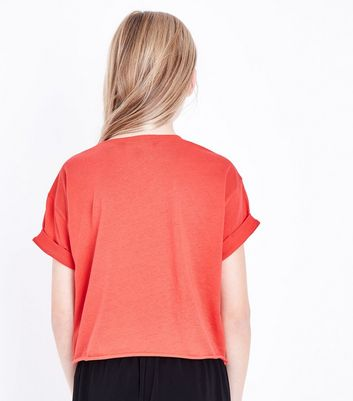 Teens Red Brooklyn Heart Print T-Shirt New Look