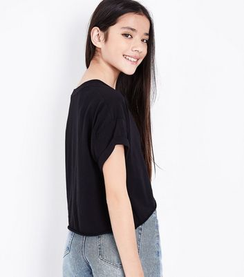 Teens Black It Takes Two To Mango T-Shirt New Look