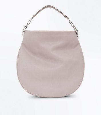 Grey Round Slouchy Hobo Bag New Look