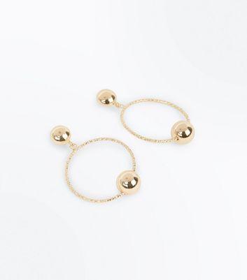 Gold Diamante Orb Hoop Earrings New Look