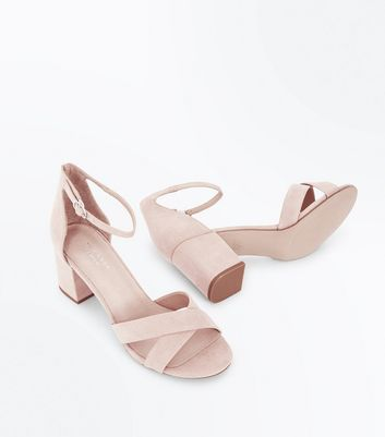 Nude Comfort Flex Suedette Cross Strap Sandals New Look