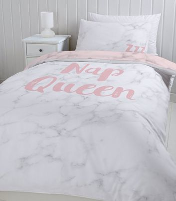 Pink Nap Queen Single Duvet Set New Look, Pink And Rose Gold Bed Sheets