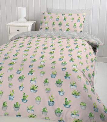 Pink Cactus Single Duvet Set New Look