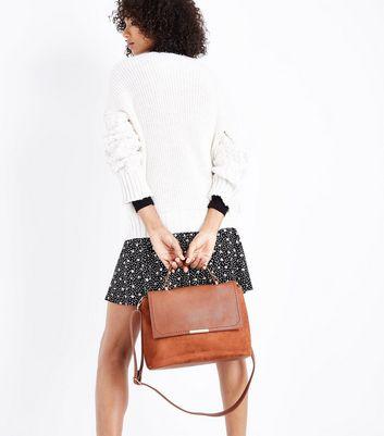 Tan Suedette Satchel Bag New Look