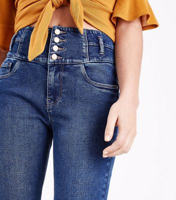 Blue High Waist Skinny Yazmin Jeans New Look