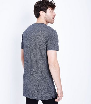 Light Grey Longline T-Shirt New Look
