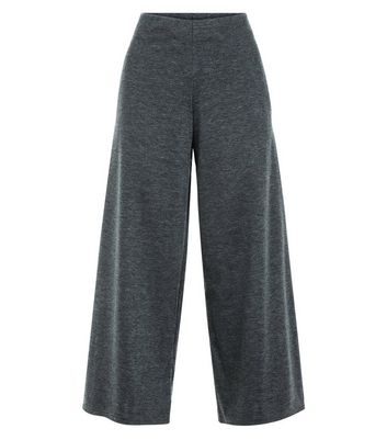 Innocence Grey Marl Culottes New Look