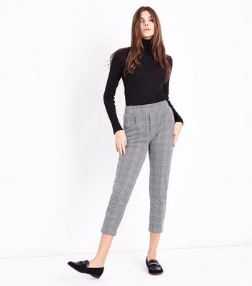 Innocence Black Prince of Wales Check Trousers New Look