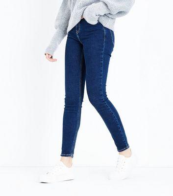 Navy Contrast Stitch Skinny Jenna Jeans New Look