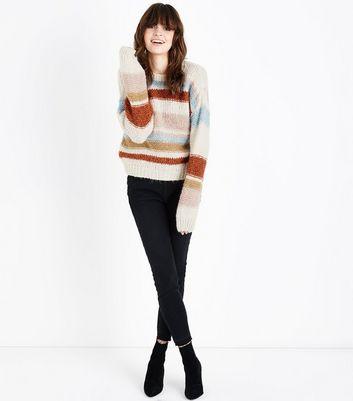 Off White Colour Block Stripe Jumper New Look
