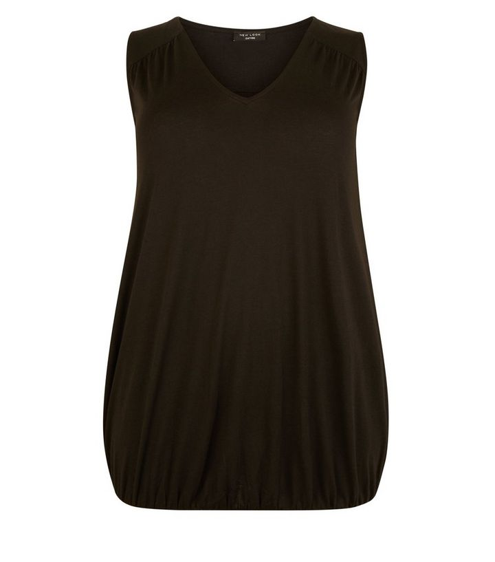 ab8d8f835e2292 ... Curves Black V-Neck Bubble Hem Vest. ×. ×. ×. Shop the look
