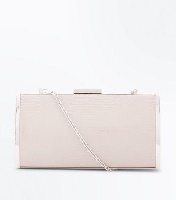 Rose Gold Box Clutch Bag New Look