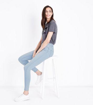 Pale Blue Super Soft Super Skinny India Jeans New Look