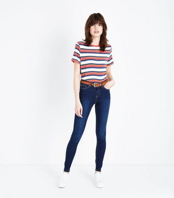 Blue Rinse Wash Skinny Jenna Jeans by New Look