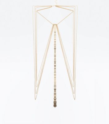 Gold Chainmail Body Chain New Look