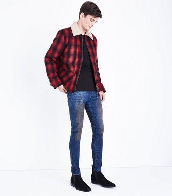 Dark Blue Tinted Skinny Jeans New Look