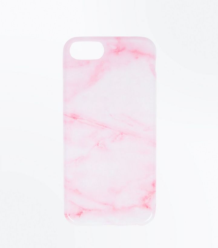 on sale 2416b 2d5cf White and Pink Marble Effect Phone Case Add to Saved Items Remove from  Saved Items