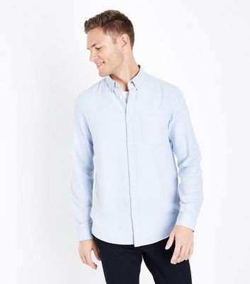 Pale Blue Long Sleeve Oxford Shirt