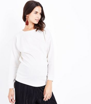 Maternity Cream Drop Arm Sweatshirt New Look