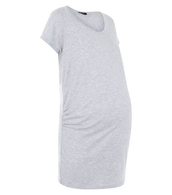 Maternity Grey Short Sleeve T-Shirt New Look